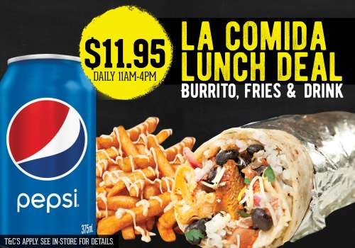 Burrito Bar – Special offer each day!