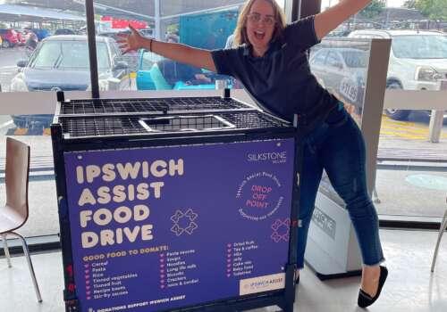 Ipswich Assist Food Drive in-centre!